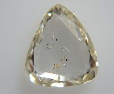 0.64cts Natural Loose Rose Cut Diamond Pear Solitaire 6.3-7.2mm SI2 Clarity H