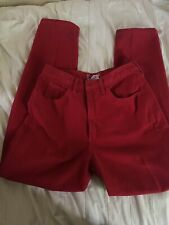 "Vtg 1980's Guess by Georges Marciano Red High Waisted ""Mom"" Jeans"