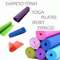 Tappetino Tappeto Yoga  Pilates Aerobica Palestra Fitness Ginnastica 173x61 dfhj