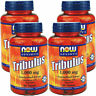 4 x Now Foods Tribulus 1000 mg 90 Tabs 45% Saponins,Testosterone Boost, FRESH