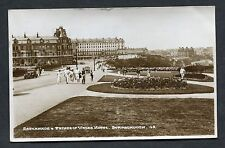 View of Cars, People, Prince of Wales Hotel & Esplanade, Scarborough Posted 1954