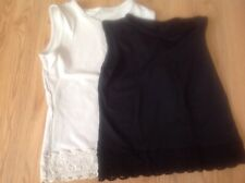 Ladies  sleeveless tops with lace around hem size 12