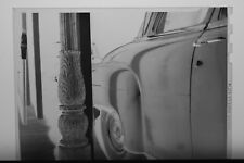 (2) B&W Press Photo Negative Chrysler Car Parked near Ornate Utility Pole- T1983