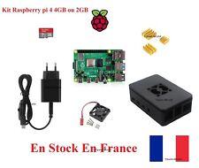 Satz Raspberry Pi 4B Choke Satz Ladegerät Mikro SD Dissipator