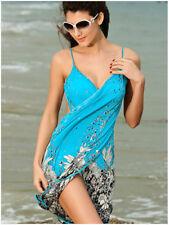 Blue Fashion Summer Beach Dress Bikini Swimwear Cover Up Sarong Sexy Wrap Pareo