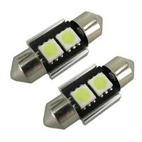 2 x 30-31mm FESTOON LED CAR LIGHT LAMP BULB CANBUS NO ERROR XENON WHITE 269 12v