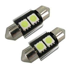 2 x 30-31mm FESTOON LED CAR LIGHT LAMP BULB CANBUS NO ERROR XENON WHITE 269 12v