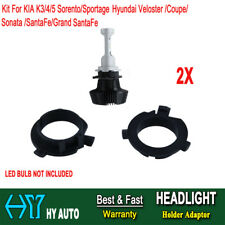 2x H7 LED Holder Adaptor Bulb For KIA K3/4/5 Sorento Hyundai Veloster Sonata