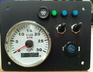 Boat, Narrowboat, Fishingboat Instrument panel 12v New any engine.