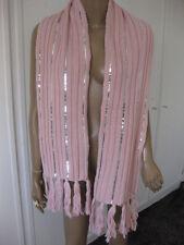Friis & Company wunderschöner  Schal  rosa /silber  mit Wolle