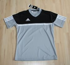 ADIDAS Fußball Shirt Sportshirt - schwarz grau - Trikot - Gr.XS 152 NEU