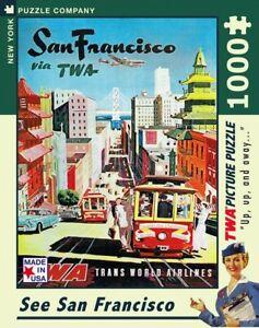 San Francisco via TWA 1000 Piece Jigsaw Puzzle 489mm x 676mm (nyp)