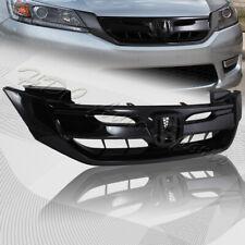 For 2013-2015 Honda Accord 4DR/Sedan Gloss Black Front Hood Modul Grille Grill