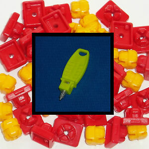 * PLAYMOBIL * 50 x RED / YELLOW SYSTEM-X CONNECTORS * SPARE PARTS *