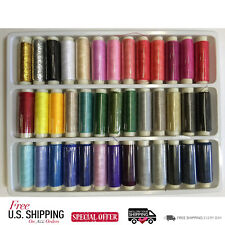 Sewing Machine EMBROIDERY THREAD SPOOL 39 Assortment Heavy Duty Polyester Kit