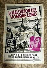 HAMMER FILM * CURSE OF THE WEREWOLF - Spanisches FILMPOSTER 104x68cm - SPAIN