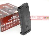 MLEmart CAA Airsoft 140 rds ABS Mid-Cap N4 AEG Magazine (Black, box of 5)