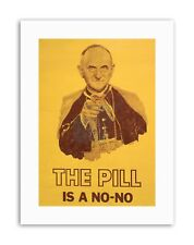 SATIRE POPE PAUL VI PILL SEX WOMEN HEALTH Poster Political Canvas art Prints