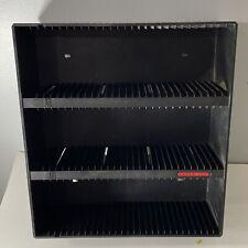 Laserline 90 CD Case Wall Mountable Black Plastic Storage Rack Holder Organizer