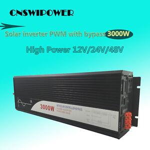 pure sine wave solar power inverter 3000w 12V/24V DC to AC 120V/220V