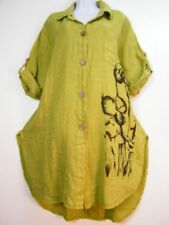 Linen Collared Machine Washable Tops for Women