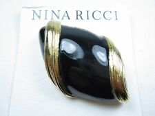 Brooch with Enamel 1441 Nina Ricci Gold Plated