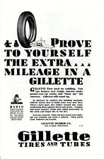 1929 Vintage print ad Gillette Tires and Tubes Rubber Co Eau Claire Wisconsin ad