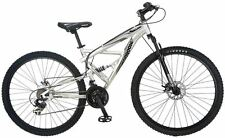 "Mongoose 29"" Men's Impasse Dual Mountain Bike Bicycle - Silver"