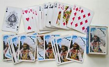 SOUVENIR OF MONTANA VINTAGE PLAYING CARDS DECK AMERICAN INDIAN CHIEF DESIGN