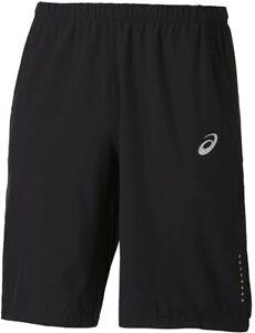 Asics Woven 11 Inch Mens Running Shorts Black Breathable Mesh Summer Run Short