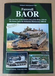 Tankograd British Special 9032: Farewell BAOR, Last Years 1989-94, Softback book