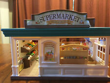 Calico Critters Supermarket Playset, Shopping Cart, Cash Register, and more!