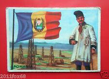 figurines cromos cards figurine sidam gli stati del mondo 42 romania flags flag