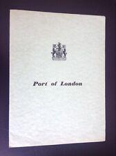 Ancienne brochure années 60' Port de Londres TBE