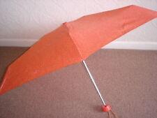 Totes Mini Orange Speckle Dots Thin Umbrella (5 Section)