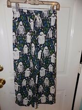 77 KIDS BY AMERICAN EAGLE ABOMINABLE SNOWMAN PAJAMA BOTTOMS SIZE M (10) NWOT