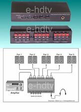Nuevo 5 Speaker Selector Switch Switcher Splitter,200 Vatios