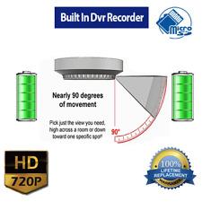 Smoke Detector SPY Camera With Built-In 720p Hd Dvr Recordee/ Adjustable Lens