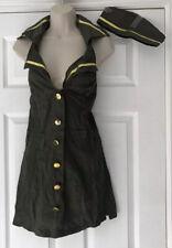 Ladies Army Soldier Costume Camo Uniform Fancy Dress size S 8-10