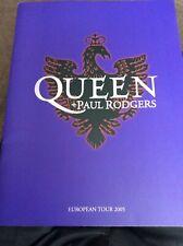 QUEEN AND PAUL ROGERS 2005 EU TOUR PROGRAMME EXCELLENT.
