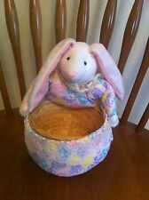 Ameri-Suisse Novelty Candies brand plush Easter Bunny basket Sunday Rabbit Toy