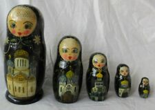 Russische Matroschka Babuschka Matrjoschka 5 Holzpuppen 17 cm