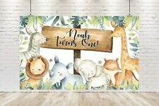 Personalised Birthday Banner / Wild One Safari Backdrop / Animals Party Poster