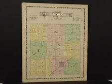 Iowa Ida County Map Maple Township 1906 J6#73