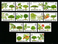 SWAZILAND 2007 SET, TREES, 13 VALUES.  M.N.H.