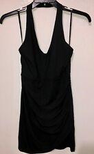 Women's Dress Material Girl Black Halter Plunging Neck Regular Size S NWT $59.50