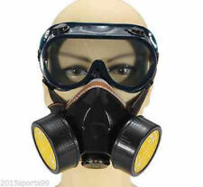 Emergency Survival Safety Respiratory Gas Mask &2 Dual Protection Filter&Glass *