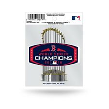 BOSTON RED SOX WORLD SERIES CHAMPIONS 2018 STATIC CLING DECAL BASEBALL MLB AUTO