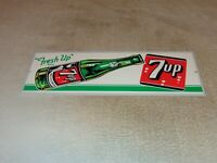 "VINTAGE FRESH UP 7UP SEVEN UP BOTTLE 15"" METAL SODA POP GASOLINE & OIL SIGN 7 UP"