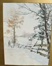 "Walter Launt Palmer Print of ""Hunter and Fence"" Antique chromolithograph"